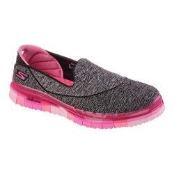 Women's Skechers GO FLEX Walk Slip-on Black/Hot Pink