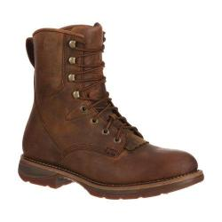 Durango Men's Boots Workin' Rebel Waterproof Brown/Green Leather