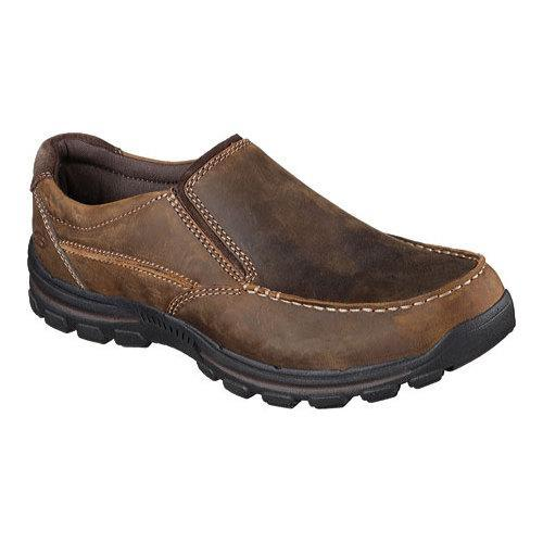 Skechers Black Brown Fit The Slip on Mens