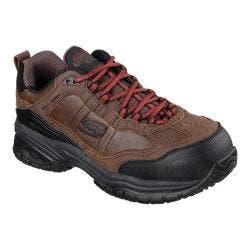 Men's Skechers Work Relaxed Fit Soft Stride Constructor II ST Dark Brown|https://ak1.ostkcdn.com/images/products/92/17/P17571696.jpg?impolicy=medium