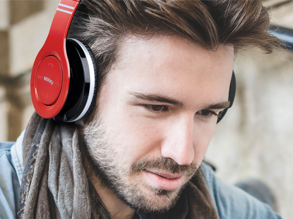 MiiKey MiiRhythm Wireless Bluetooth Headphone with Microphone and HD Audio