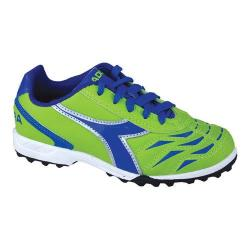 Children's Diadora Capitano TF JR Lime Green/Dark Royal