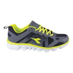 Men's Diadora Coverciano Trainer Shoe Black/Matchwinner Yellow