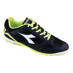 Men's Diadora Quinto V TF Soccer Cleat Black/White/Fluo Yellow
