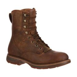 Men's Durango Boot DDB0066 8in Lacer Workin' Rebel WP Steel Toe Brown Leather