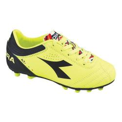 Children's Diadora Italica 3 MD PU JR Soccer Cleat Yellow Fluo/Black