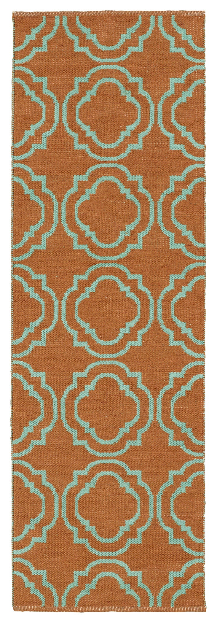 shop indoor outdoor laguna orange and turquoise geo flat weave rug 2 39 0 x 6 39 0 free shipping. Black Bedroom Furniture Sets. Home Design Ideas