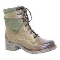 Women's Dromedaris Kara Printed Olive Leather