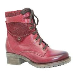 Women's Dromedaris Kara Printed Red Leather