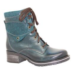 Women's Dromedaris Kara Printed Teal Leather