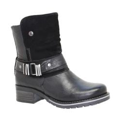 Women's Dromedaris Kikka Biker Boot Black Leather