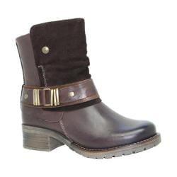 Women's Dromedaris Kikka Biker Boot Chocolate Leather