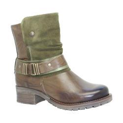 Women's Dromedaris Kikka Biker Boot Olive Leather