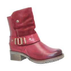 Women's Dromedaris Kikka Biker Boot Red Leather