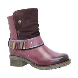 Women's Dromedaris Kikka Biker Boot Violet Leather