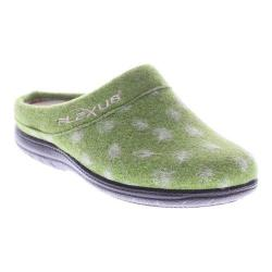 Women's Flexus by Spring Step Winchester Clog Slipper Green Wool