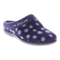 Women's Flexus by Spring Step Winchester Clog Slipper Navy Wool