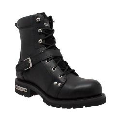 Men's Ride Tecs 9146 8in Zipper Lace Boot Black Leather