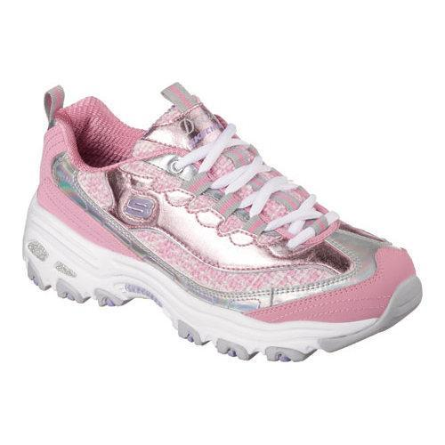 cb189a758390 Shop Women s Skechers D lites Show Time Walking Shoe Pink Silver - Free  Shipping Today - Overstock - 10540955