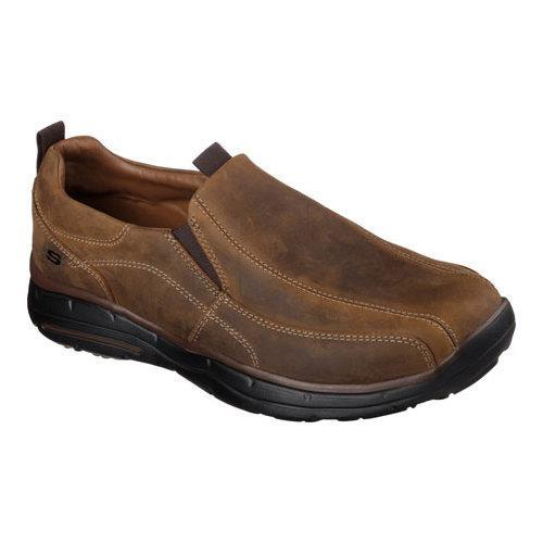 Men's Skechers Relaxed Fit Glides Docklands Slip On Dark Brown