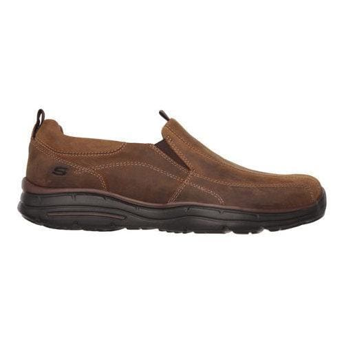 Men's Skechers Relaxed Fit Glides Docklands Slip On Dark Brown - Thumbnail 1