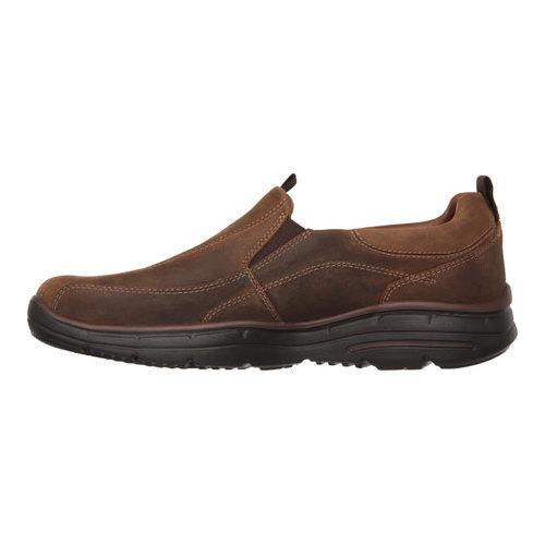 Men's Skechers Relaxed Fit Glides Docklands Slip On Dark Brown - Thumbnail 2
