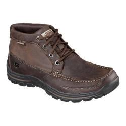Skechers Men's Relaxed Fit Braver Fabio Lace Up Boot Dark Brown