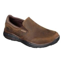 Men's Skechers Relaxed Fit Glides Calculous Slip On Dark Brown
