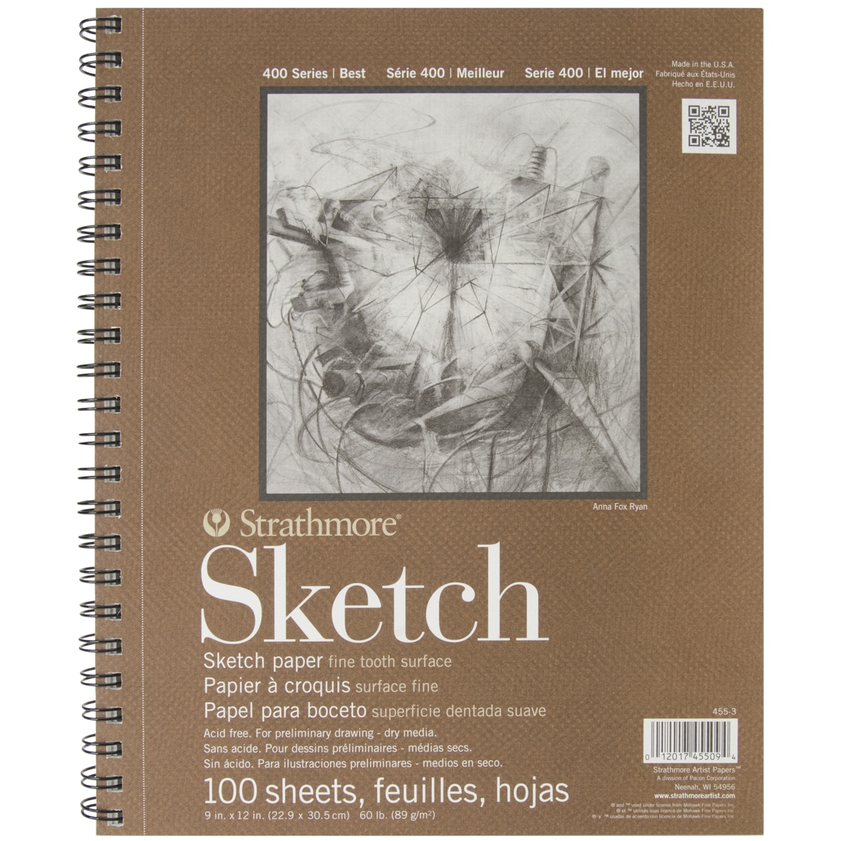 Strathmore Sketch Spiral Paper Pad 9inX12in100 Sheets