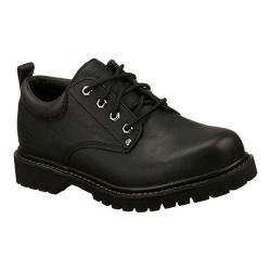 Men's Skechers Tom Cats Black Oily Leather