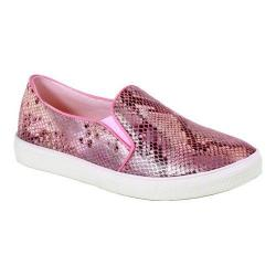 Women's Reneeze Oma-4 Snake Slip On Sneaker Pink Synthetic