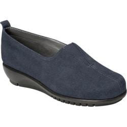 Women's Aerosoles Friendship Flat Dark Blue Suede