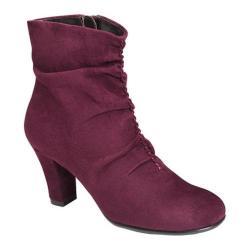 Women's Aerosoles Good Role Ankle Boot Wine Fabric