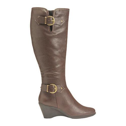 Women's Aerosoles Wonderful Wide Calf Boot Brown Faux Leather - Thumbnail 1