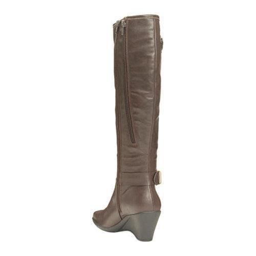 Women's Aerosoles Wonderful Wide Calf Boot Brown Faux Leather - Thumbnail 2