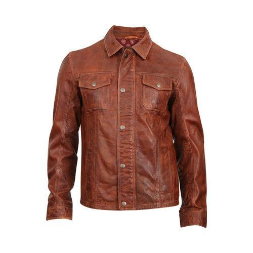 Men's Durango Boot Cow Puncher Jacket Brown Leather (US M...