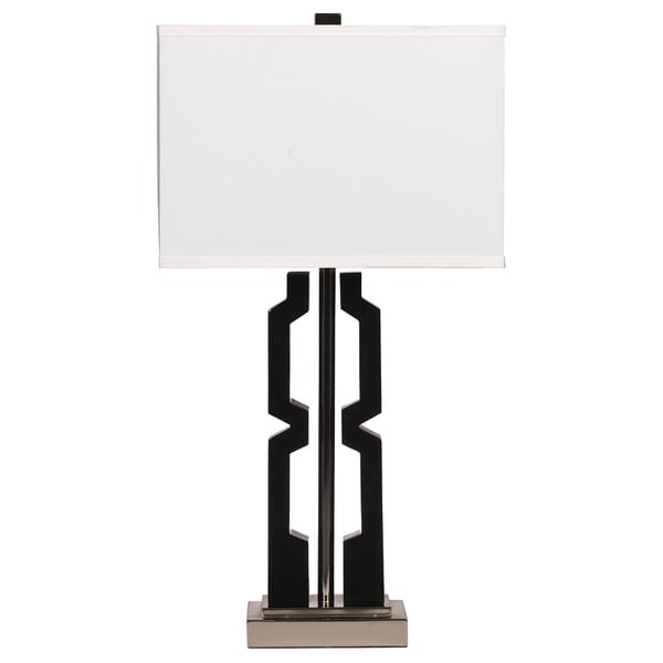 Mitzi Black 30 Inch Poly Table Lamps   Set Of 2