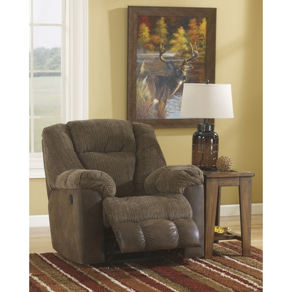 Signature Design by Ashley Troubadore Hickory Rocker Recliner