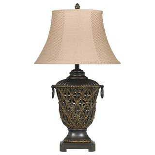 Signature Designs by Ashley Redella Bronze/ Antique Goldtone Table Lamp (Pack of 2)