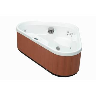Aston 3-Person 30-Jet Dual Insulated Hot Tub Spa with Lounger in White