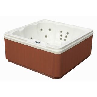 Aston 6-Person 30-Jet Hot Tub Spa with Lounger in White