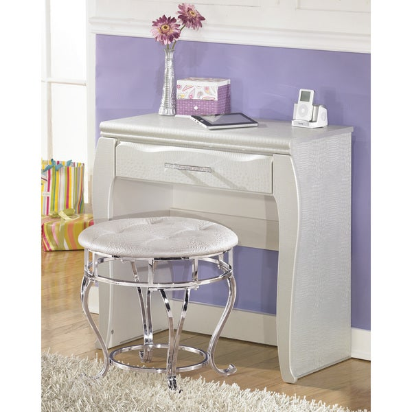 Signature Design By Ashley Zarolina Silver Youth Vanity Free Shipping Today Overstock Com