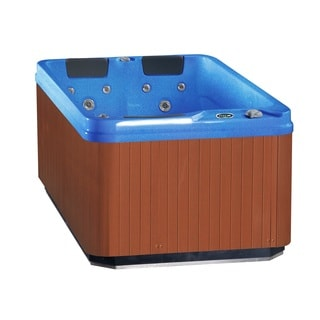 Aston 3-Person 32-Jet Dual Insulated Hot Tub Spa with Lounger in Coastal Blue