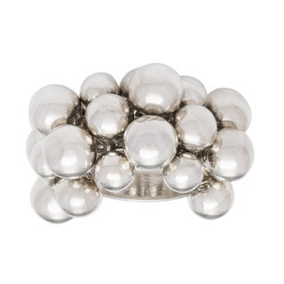 Kele & Co Sterling Silver Multi-ball Ring