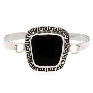 Kele & Co's Sterling Silver Black Onyx Cuff Bracelet