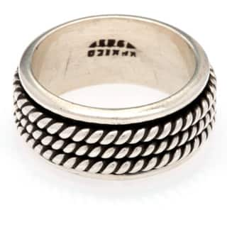Kele & Co. Sterling Silver Braided Spinner Ring|https://ak1.ostkcdn.com/images/products/9202382/P16373971.jpg?impolicy=medium