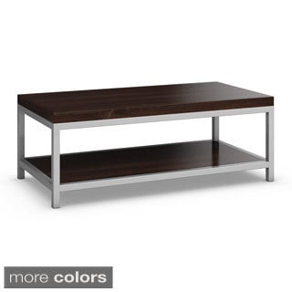 Made to Order Circuit Rectangular Cocktail Table with Shelf