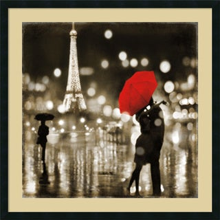 Kate Carrigan 'A Paris Kiss' Framed Art Print 34 x 34-inch