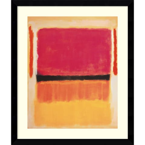 Framed Art Print 'Untitled (Violet, Black, Orange, Yellow on White and Red), 1949' by Mark Rothko 33 x 39-inch