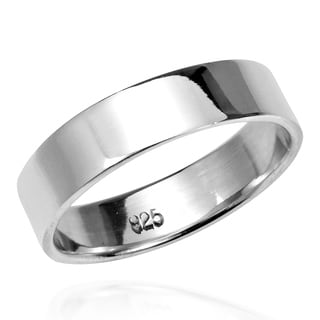 Handmade Must Have 5mm Wide Plain Band .925 Sterling Silver Ring (Thailand)